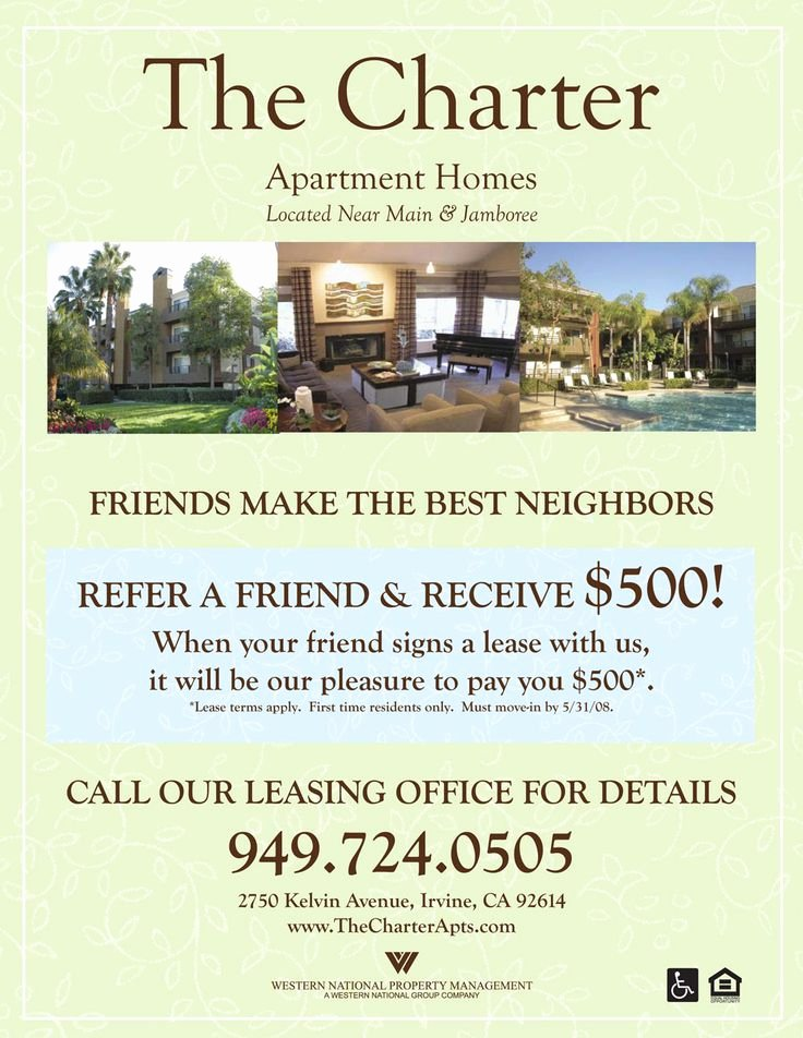 Apartment Market Survey Template New Refer A Friend Apartment Flyer