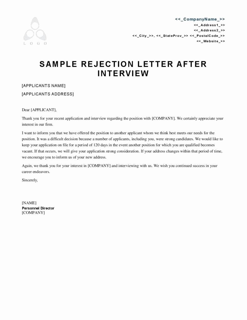 Application Rejection Letter Fresh 3 Reasons Employment Rejection Letters Matter