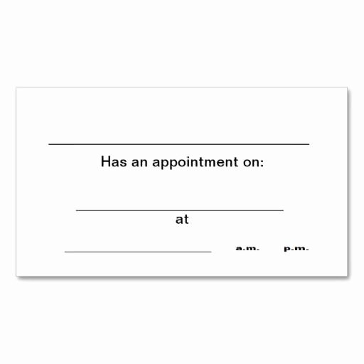 Appointment Reminder Template Word Best Of 238 Best Appointment Business Cards Images On Pinterest