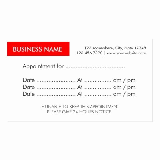 Appointment Reminder Template Word Best Of 387 Best Appointment Reminder Business Cards Images On