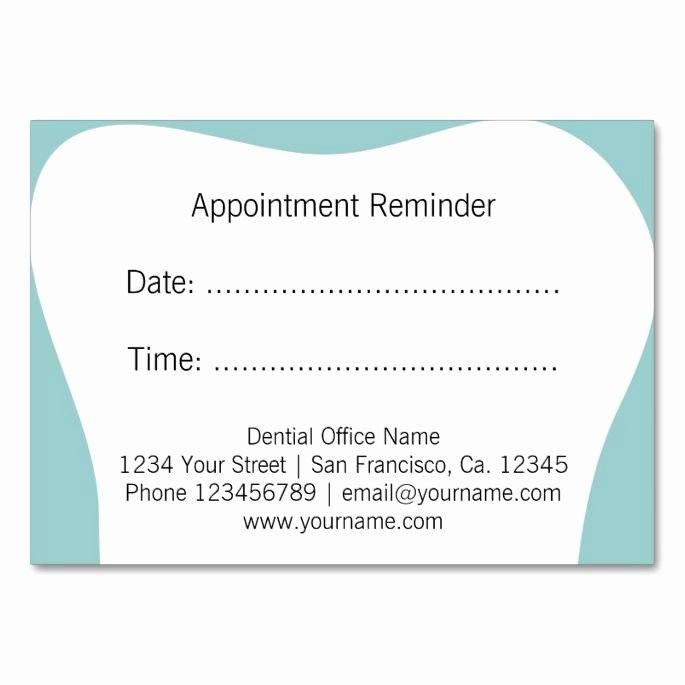 Appointment Reminder Template Word New 2017 Best Dental Dentist Business Cards Images On