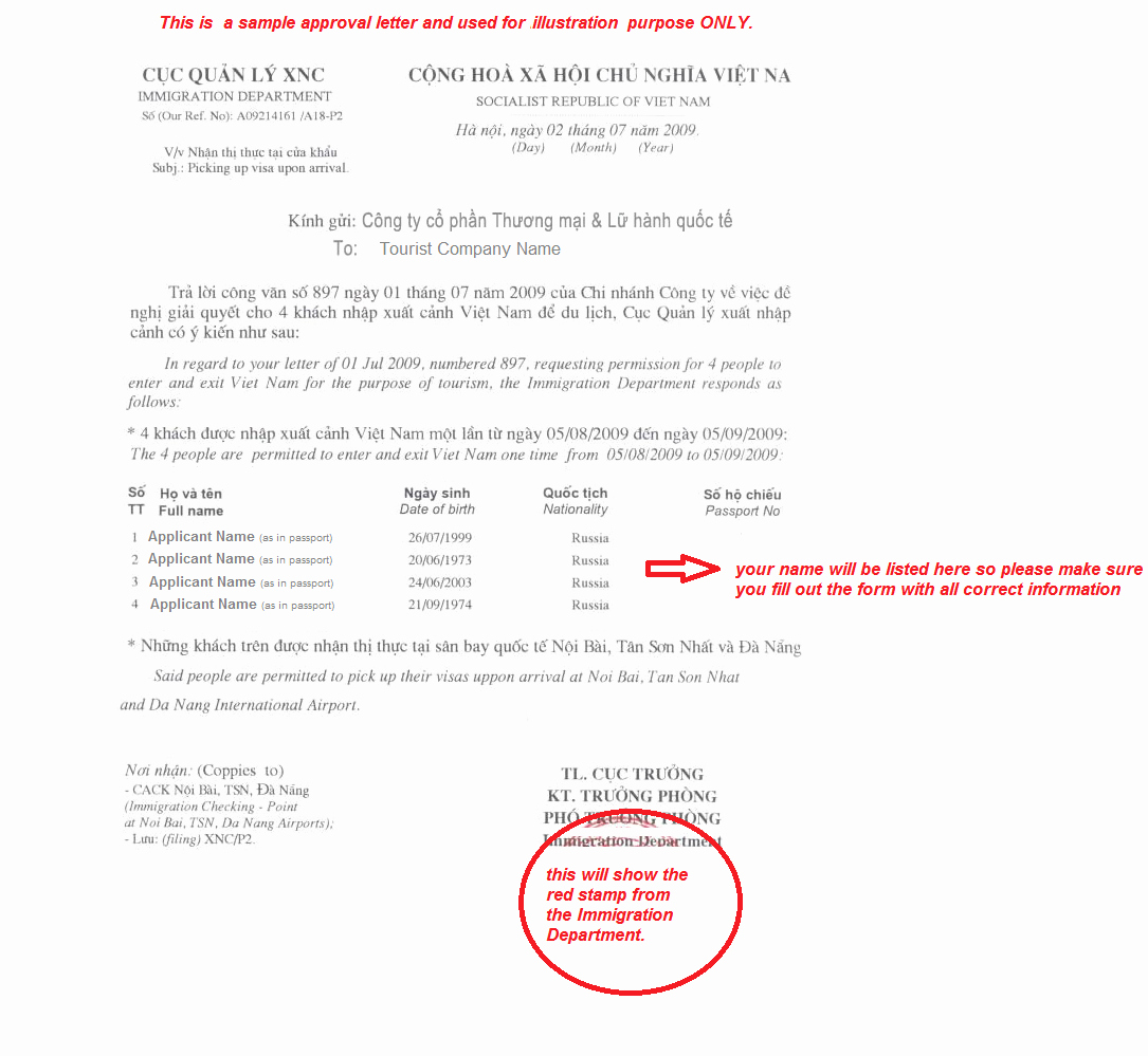 Approval Letter Example Beautiful What is Vietnam Visa Approval Letter and How to One