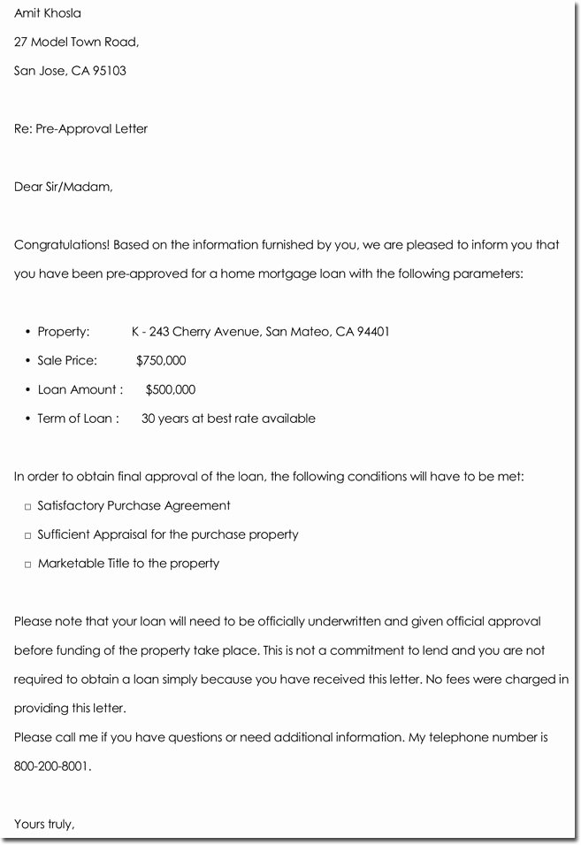 Approval Letter Example Luxury Approval Letter Templates 10 Samples Examples & formats