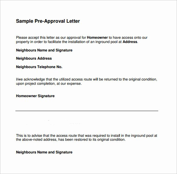 Approval Letter Example New Pre Approval Letter 8 Download Free Documents In Word Pdf