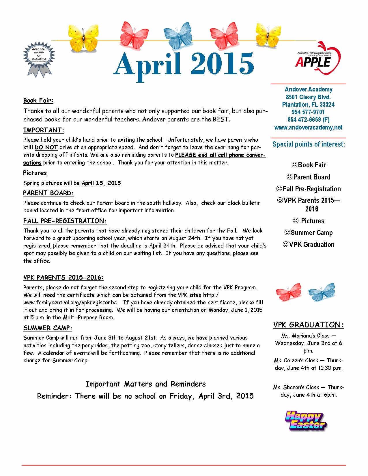 April Newsletter Template Awesome Newsletter andover Academyandover Academy