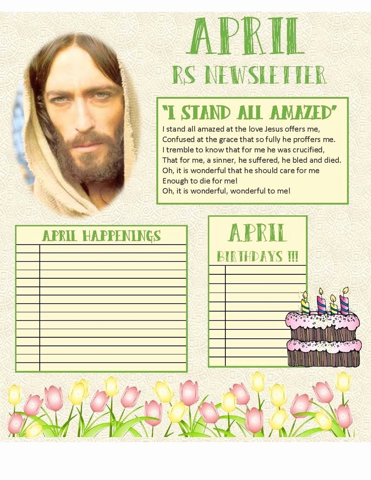 April Newsletter Template Inspirational 29 Best Relief society Newsletters the Church Of Jesus