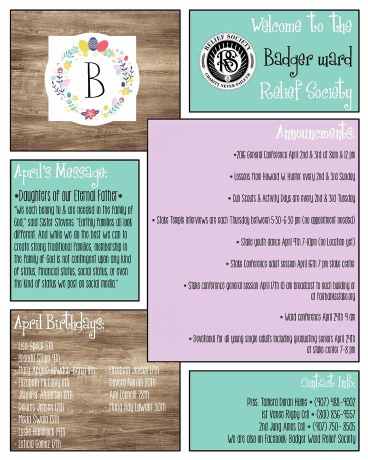 April Newsletter Template Lovely April Rs Newsletter Template
