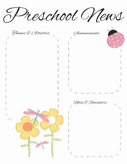 April Newsletter Template Lovely Preschool Spring Newsletter Template 2