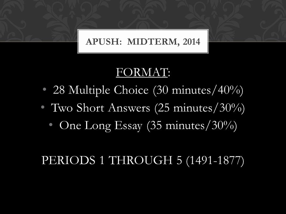 Apush Long Essay Examples 2015 Lovely Apush Midterm 2014 Review Sessions Ppt