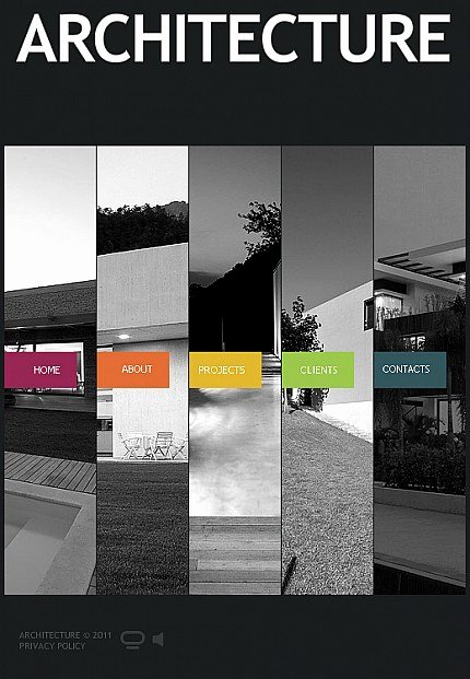 Architecture Portfolio Design Templates Elegant Architecture Flash Cms Template