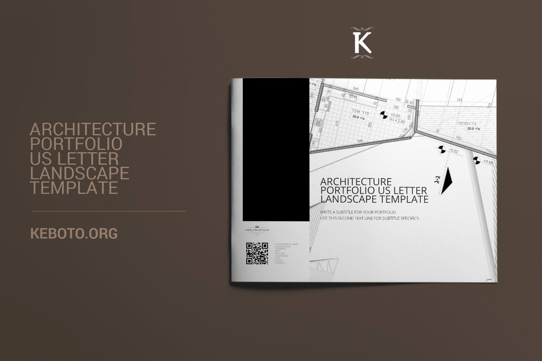 Architecture Portfolio Design Templates Elegant Architecture Portfolio Us Letter Templates Creative Market