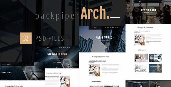 Architecture Portfolio Design Templates Fresh Backpiperarch Architecture Interior Portfolio Psd