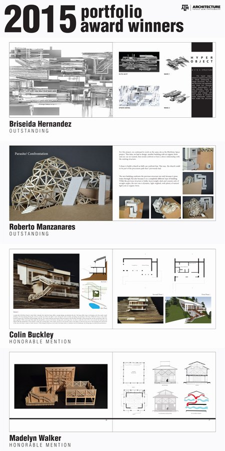 Architecture Portfolio Design Templates Inspirational Undergraduate Portfolio Winners College Of Architecture