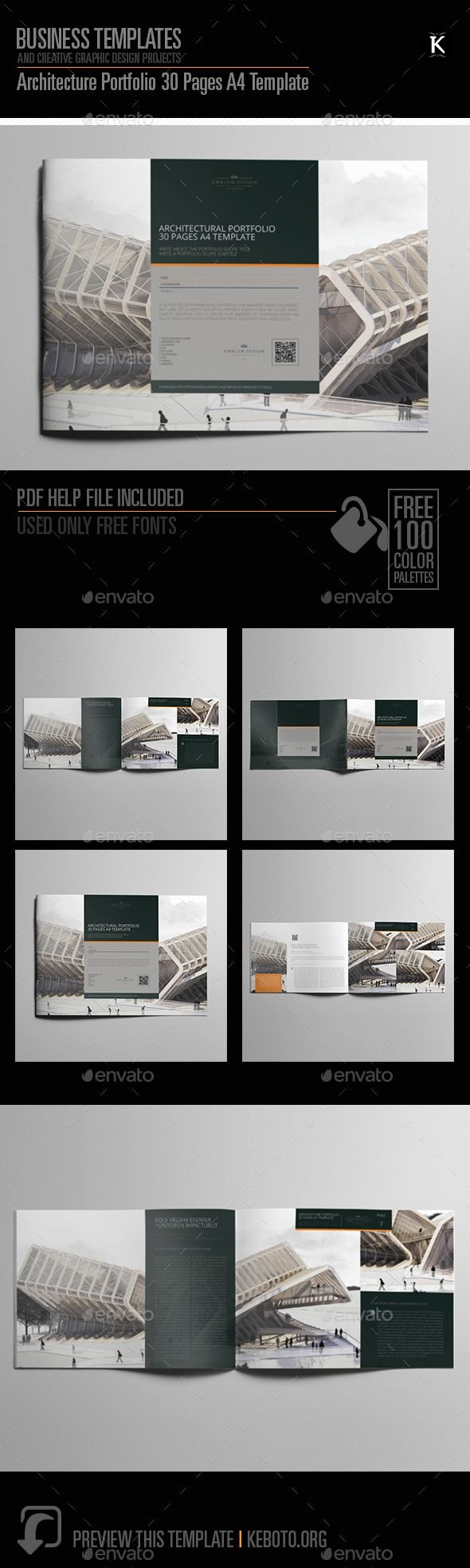 Architecture Portfolio Template Indesign Elegant Architecture Portfolio Brochure Template Indesign Indd 30