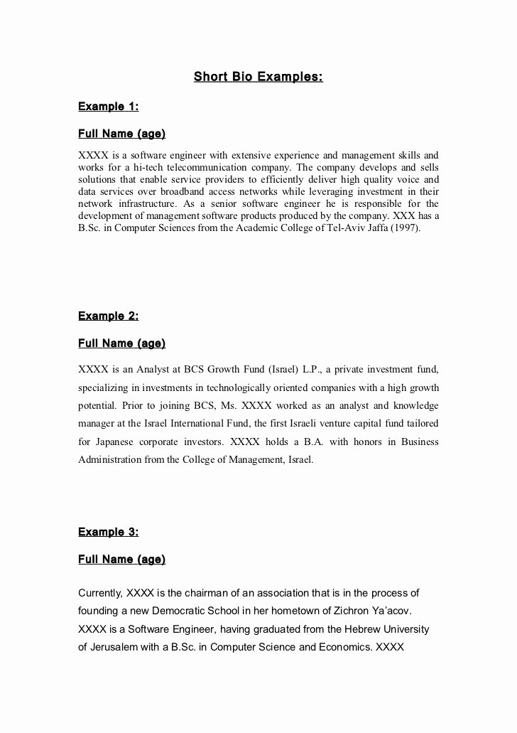 Army Board Biography Example Unique 19 Of Short Army Bio Template Free