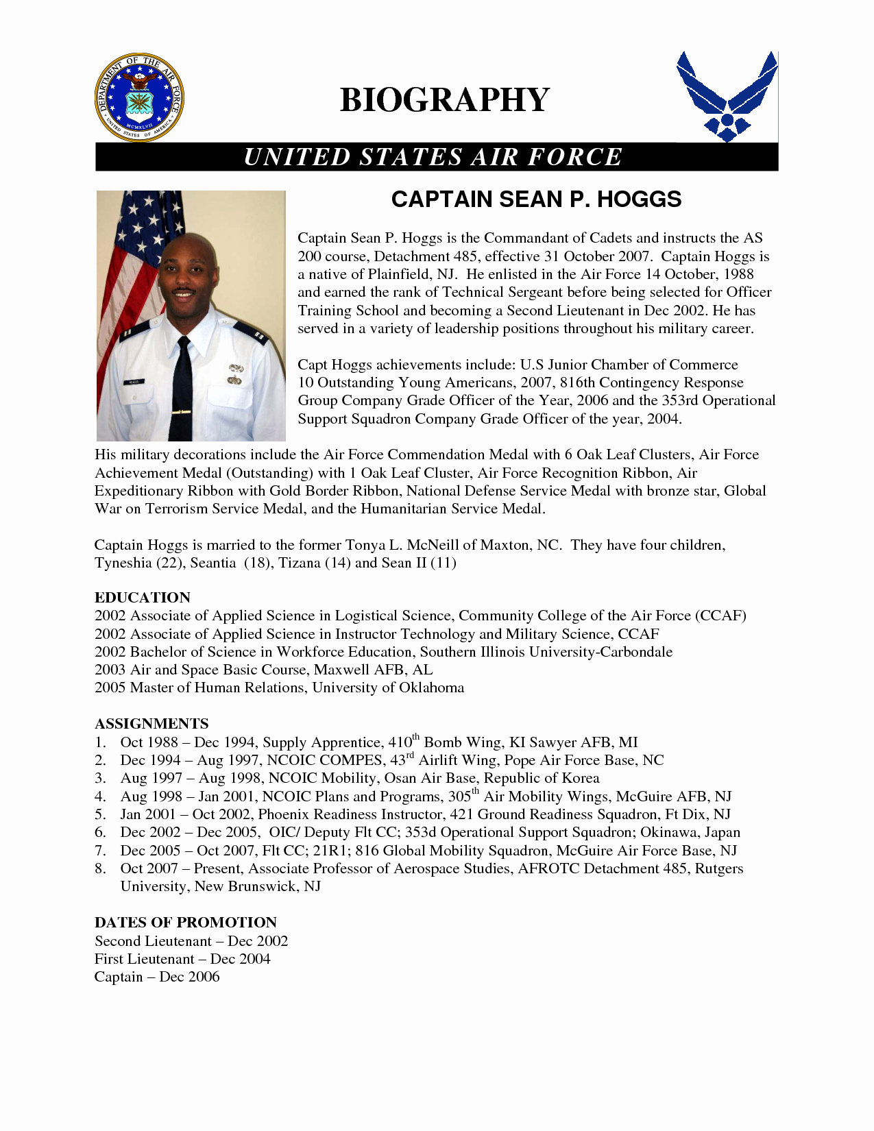 Army Board Biography Example Unique 24 Of Army Biography Template