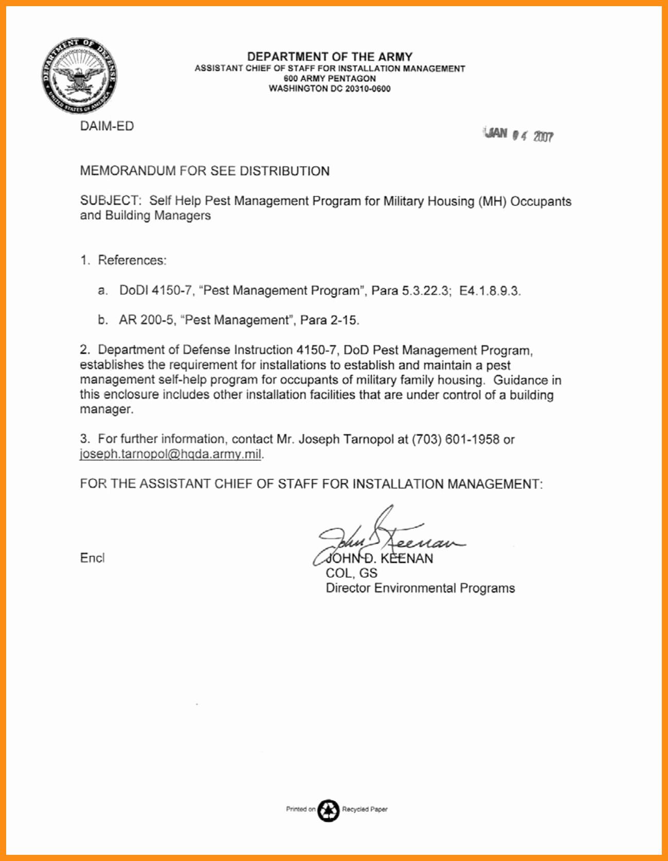 Army Memorandum for Record Template Elegant 11 12 Example Army Memorandum for Record