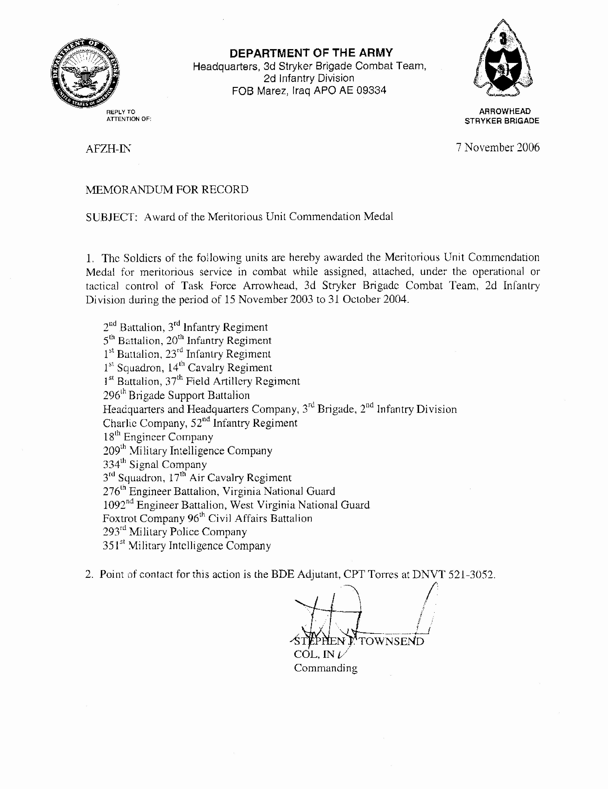Army Memorandum for Record Template Inspirational 12 Best Of Ar 25 50 Memorandum Example Ar 25 50