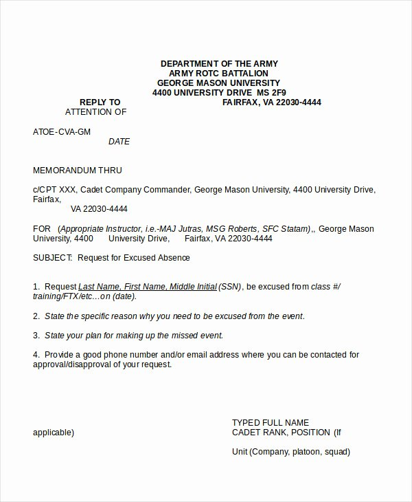 Army Memorandum for Record Template Inspirational Memo format 15 Free Word Pdf Documents Download