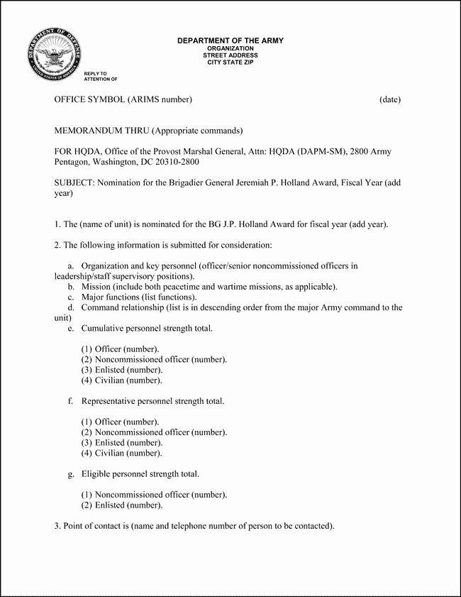 Army Memorandum for Record Template Lovely 10 Best Of Army Informal Memorandum Example