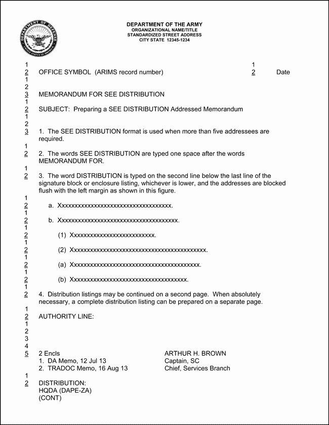 Army Memorandum for Record Template Lovely Army Memorandum Template