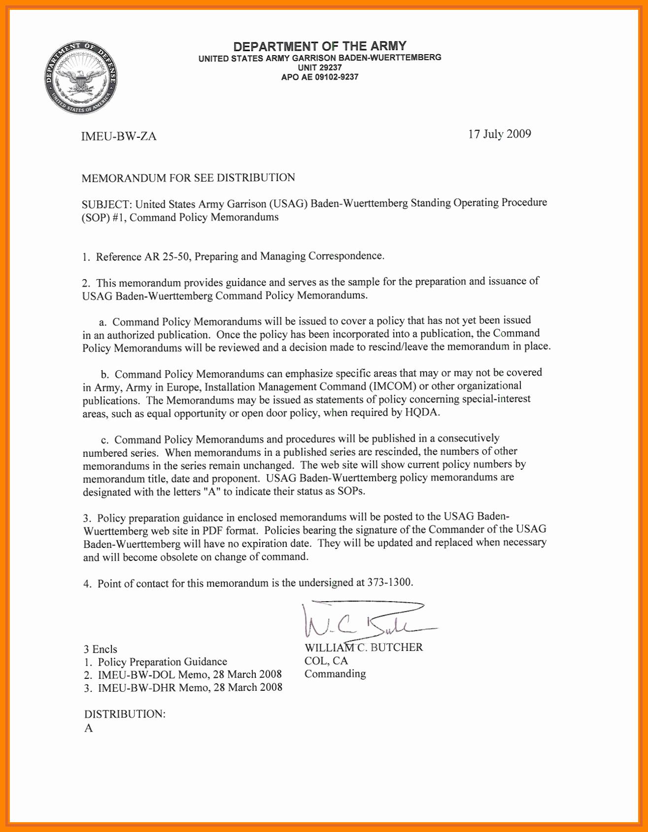 Army Memorandum for Record Template Luxury 15 Memorandum Of Record Army