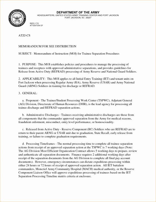 Army Memorandum for Record Template Luxury Army Memorandum for Record Template