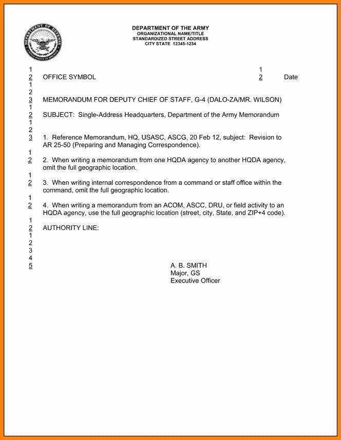 Army Memorandum for Record Template Unique 6 Memorandum for Record Army