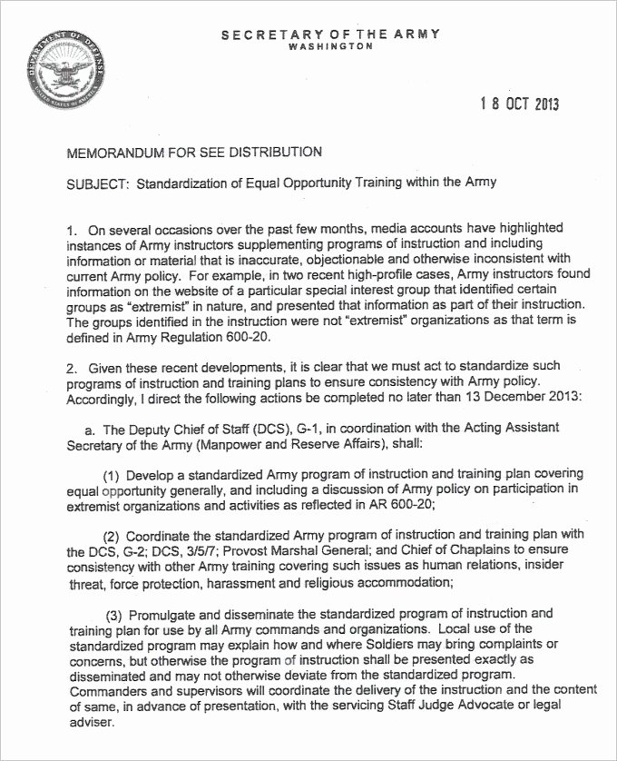 Army Memorandum for Record Template Unique 9 Army Memorandum for Record Template