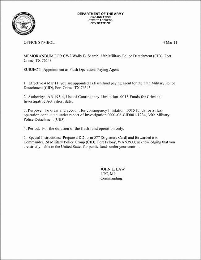 Army Memorandum for Record Template Unique Army Memorandum Template