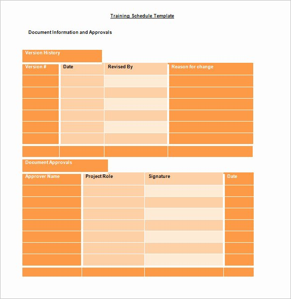 Army Training Schedule form Awesome Training Schedule Template 7 Free Sample Example