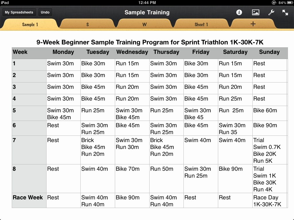 Army Training Schedule Template Best Of Triathlon Training Calendar Template