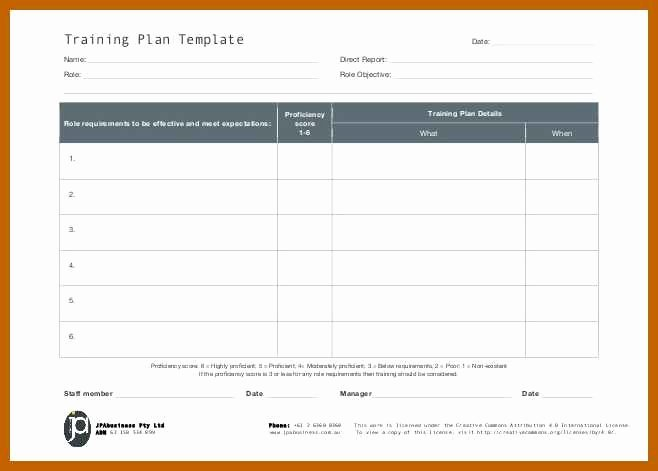 Army Training Schedule Template Luxury 12 13 Training Plan Template