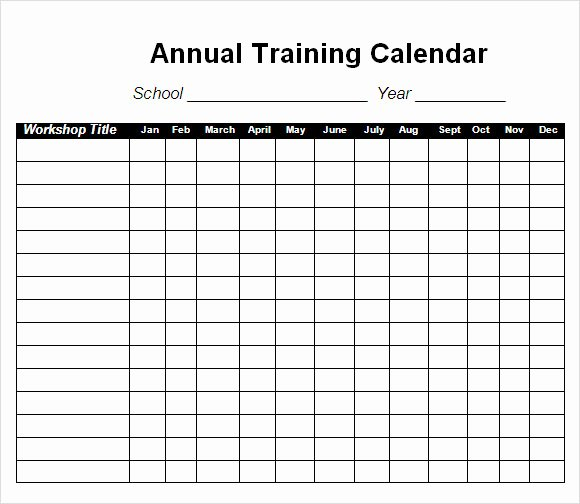 Army Training Schedule Template New Training Calendar Template 11 Free Download for Pdf