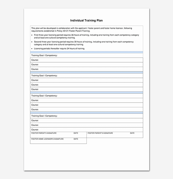 Army Training Schedule Template New Training Plan Template 26 Free Plans & Schedules