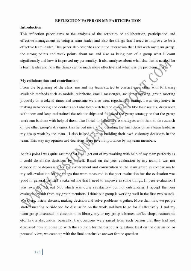 Art Institute Essay Example Best Of Reflective Essay Essay Sample From assignmentsupport