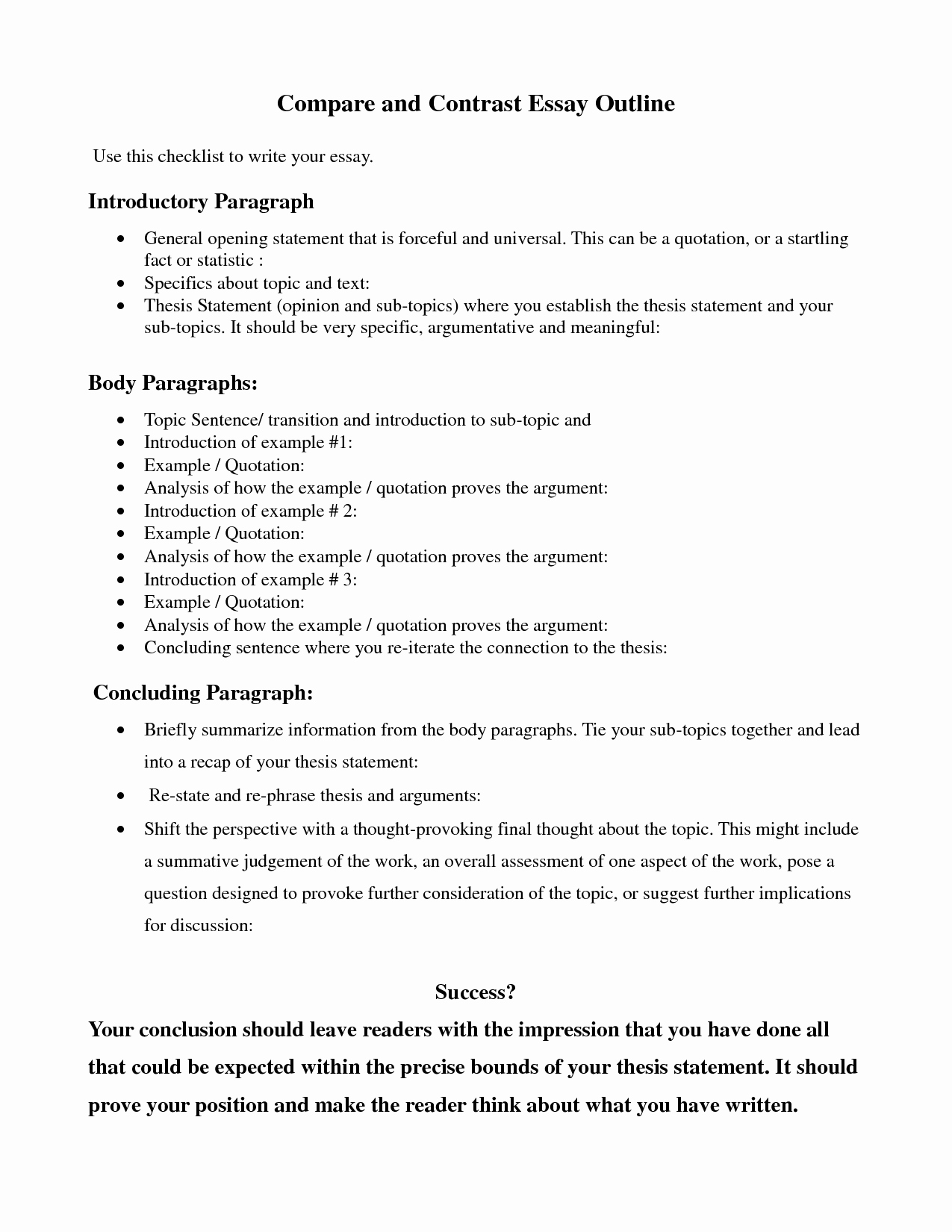Art Institute Essay Example Lovely Pare Contrast Essay Outline Google Search