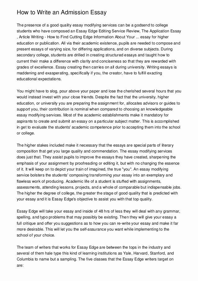 Art Institute Essay Example Unique How to Write An Admission Essay