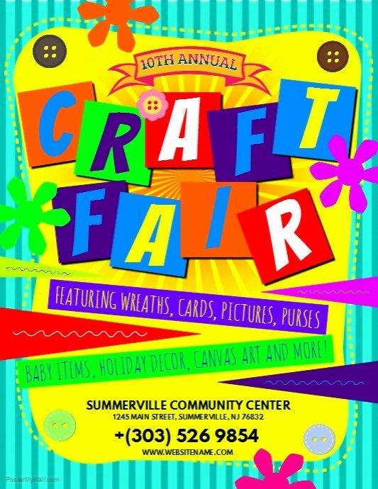Art Show Invitation Template Fresh Craft Fair Flyer Template