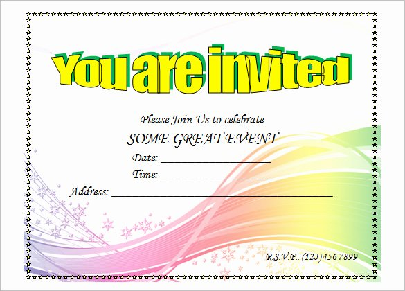 Art Show Invitation Template Inspirational Birthday Invitation Template – 48 Free Word Pdf Psd