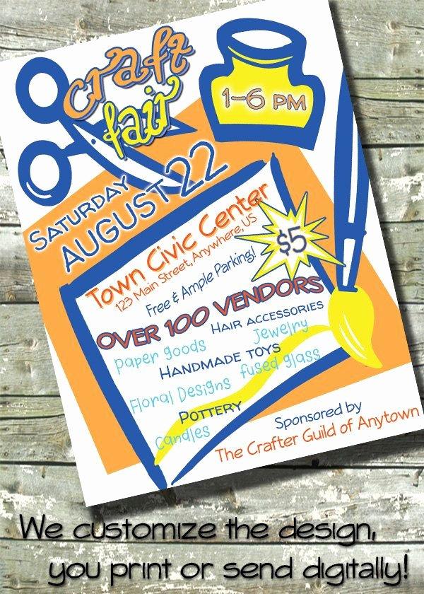 Art Show Invitation Template Lovely Arts & Craft Fair Bazaar Flyer event Poster