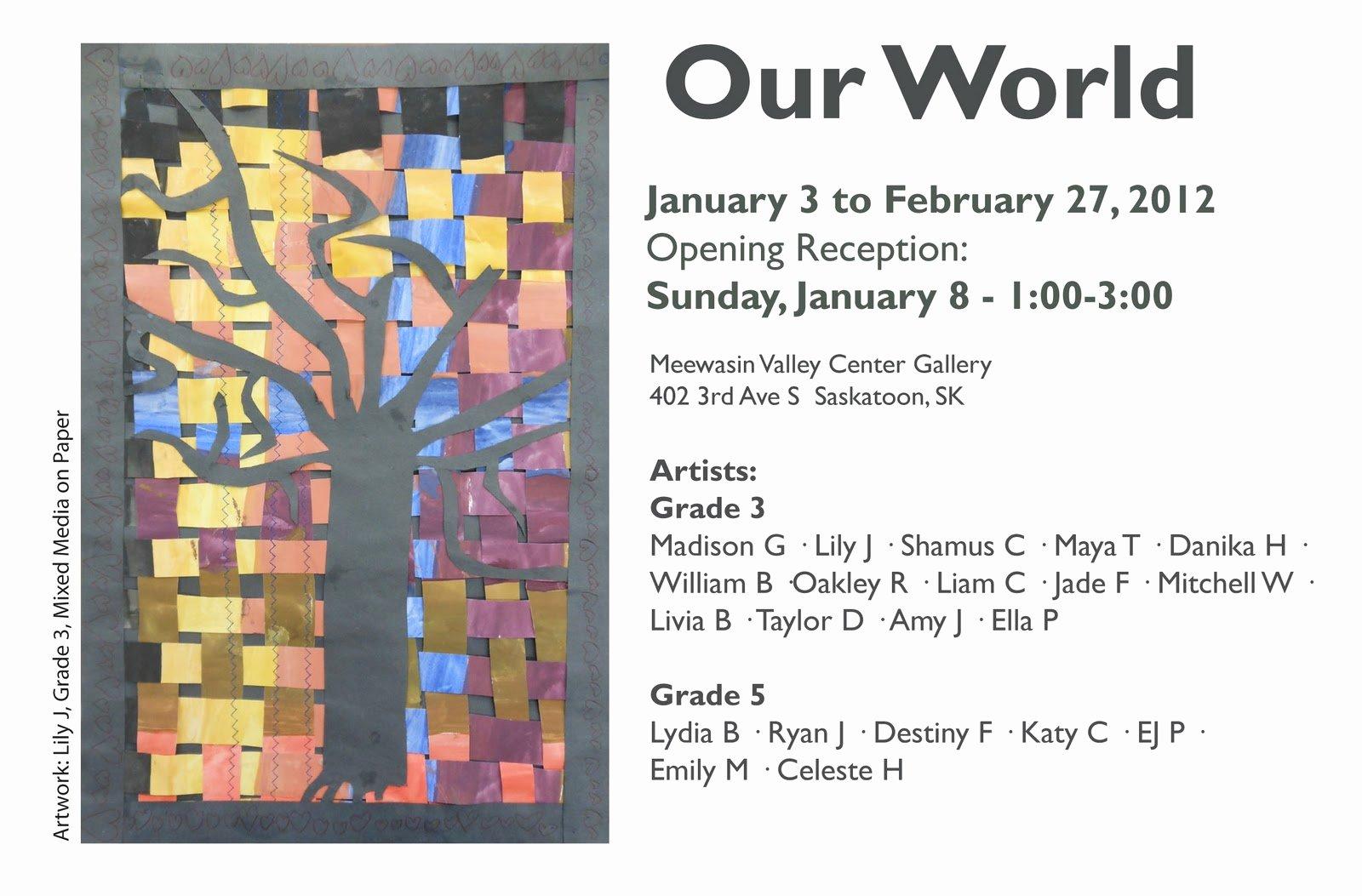 Art Show Invitation Template Luxury Georges Vanier Catholic Fine Arts School Saskatoon