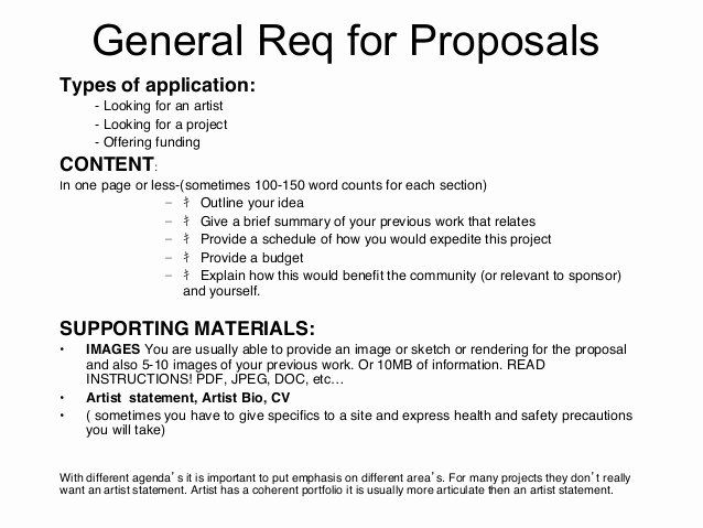 Artist Proposal Example Awesome Proposal Writing Tips by Julia Vogl
