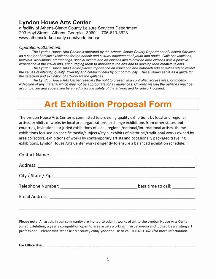 Artist Proposal Example Inspirational Artist Proposal Example Art Project Sample Pdf Curator