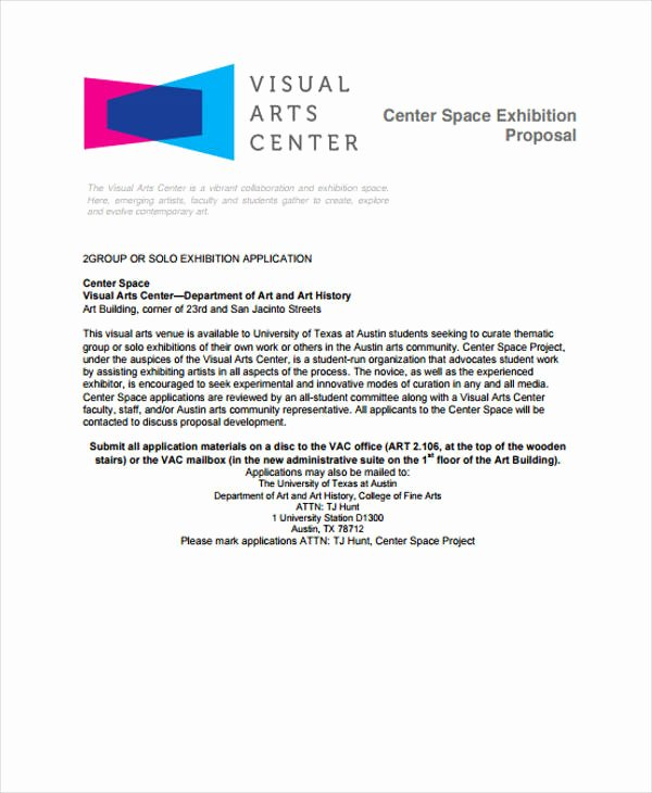 Artist Proposal Example Inspirational Exhibition Proposal Template 12 Free Sample Example