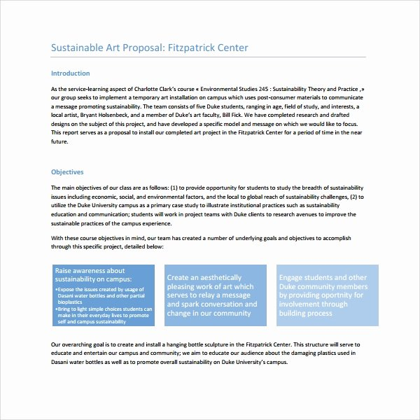 Artist Proposal Example Lovely 10 Art Proposal Templates Pdf Word Pages