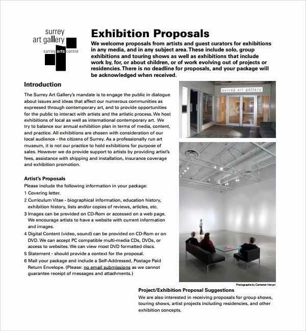 Artist Proposal Samples New 10 Art Proposal Templates Pdf Word Pages