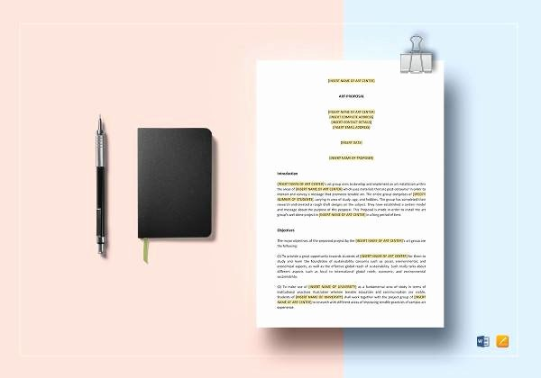 Artist Proposal Template Best Of 10 Art Proposal Templates Pdf Word Pages