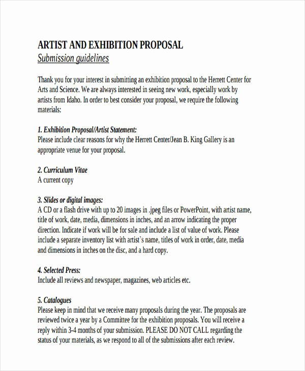 Artist Proposal Template Luxury 53 Proposal Templates and Examples Pdf Word Pages