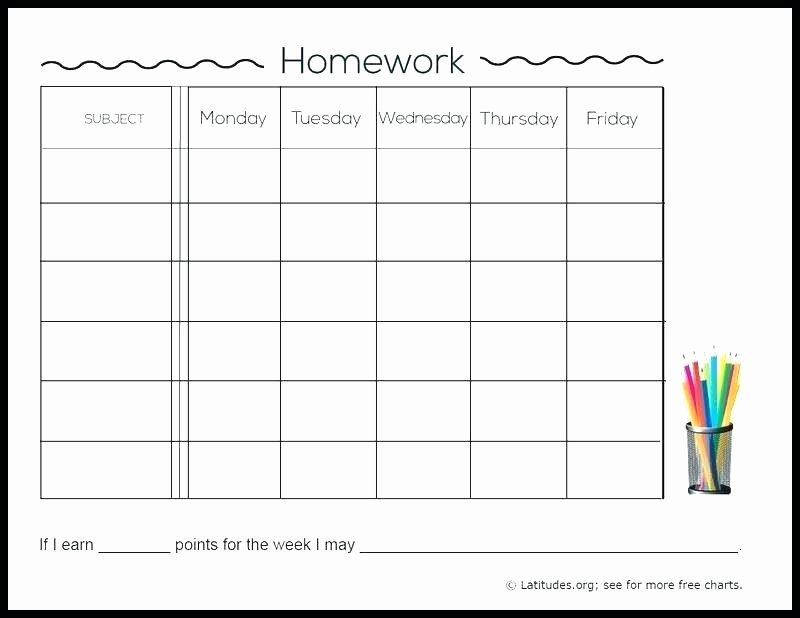 Assignment Sheet Template Unique 13 Free Homework assignment Sheet Template